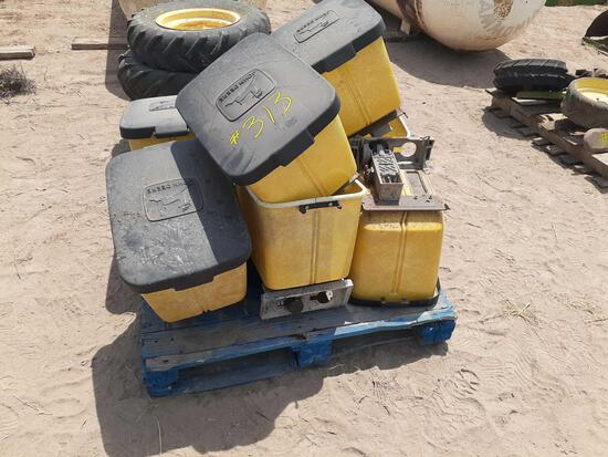 Pallet w/ 8-JD Planter Boxes