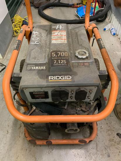Ridgid Zero Gravity Generator 7125 Starting Watts, 5700 Running Watts, Pwrd by Yamaha (Rm 406)