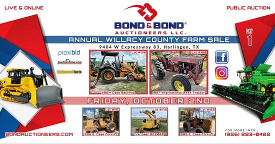 DAY 1 ANNUAL SO. TX. FARM & CONSTRUCTION AUCTION