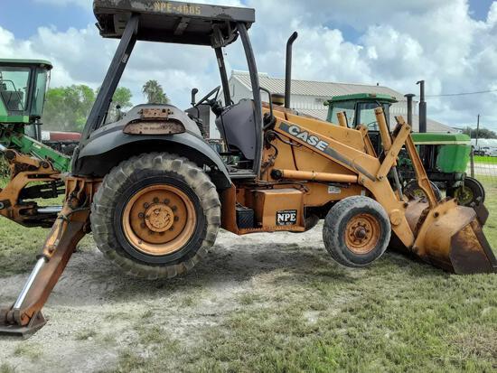 580M Case Backhoe S#JJG0307041, 4,816Hrs, Open ROPS, Running Unit, Ready to Work