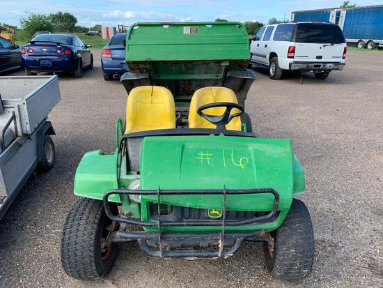 John Deere Gator 4x2(Turf-TX)Gas Motor, DumpbedS#WOTURFC011562Condition-Unkown...