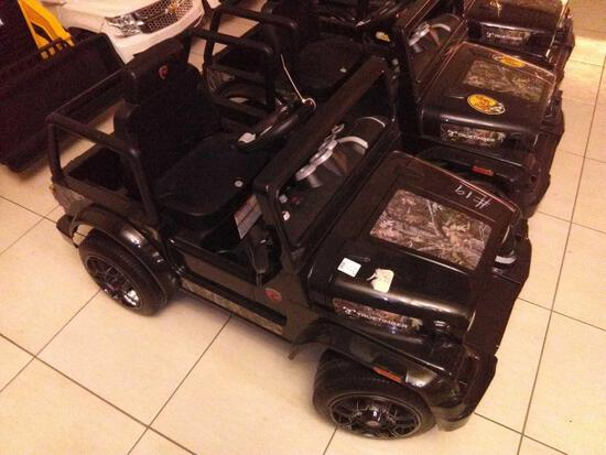 Children Electric Car Black(Roll Play Jeep)