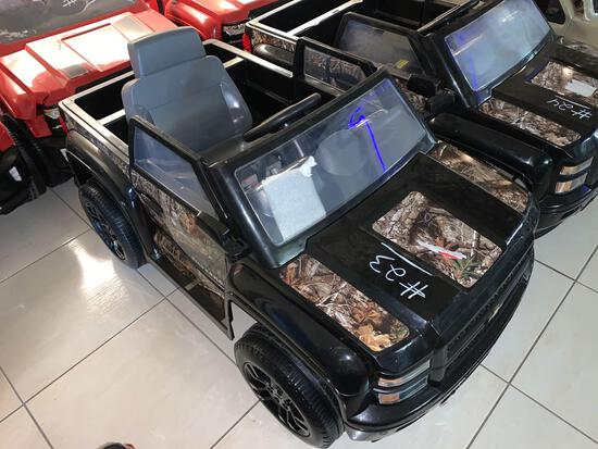 Children Electric Car Black(Chevy Silverado)