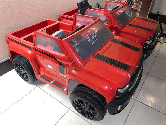 Children Electric Car Red(Chevy Z71 Silverado)