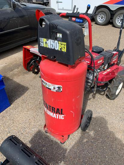 Central Pneumatic Red Air Compressor, 26 Gal. 150 Max PSI, 1.8HP