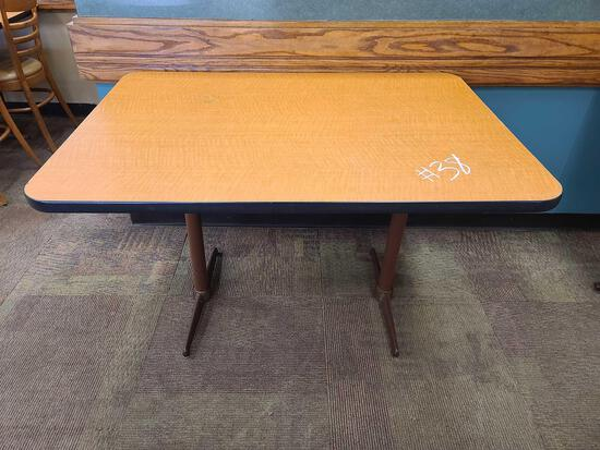 (2) Tables NO CHAIRS Rectangle(34''x48'') Square(34''x34'')