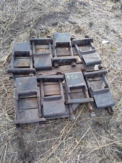 Pallet w/ (8) 5in Toolbar Shank Clamps
