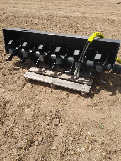 2020 Unused Skid Steer 72'' Tiller Complete w/Hydraulic Hoses