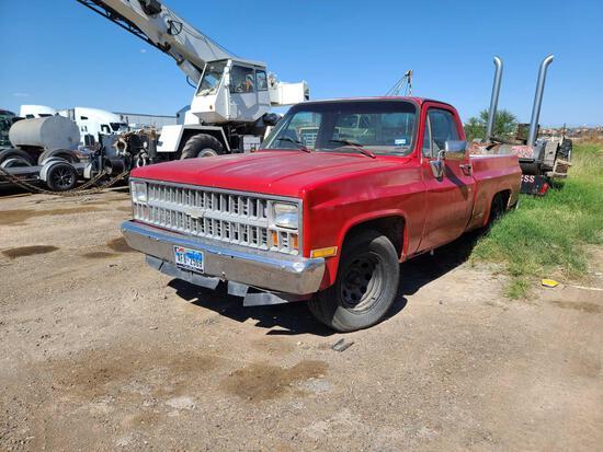 1981 Chevrolet C10 Pickup Truck, VIN # 1GCCC14D0BS128916