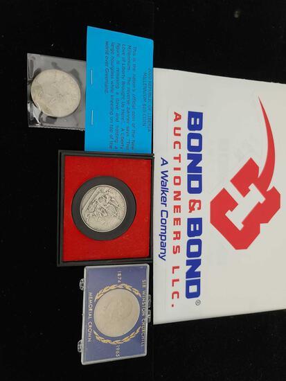 America's First Medal, Sir Winston Churchill Coin, Millennium $10 Coin