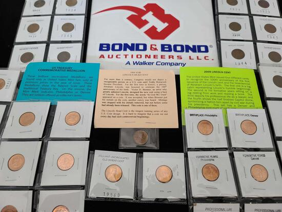 Group of Wheat Pennies, Commemorative Medallions & Lincoln Cents
