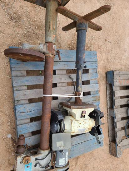 (1) Drill Press & (1) Stand Grinder