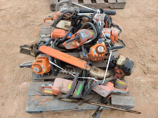 Pallet/Group of Chainsaws & Blowers