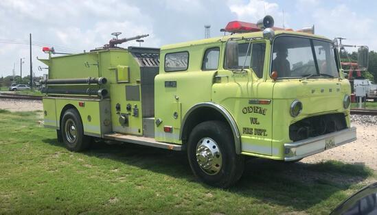 1979 FORD PUMPER FIRE TRUCK, VIN# D80DVEE6366