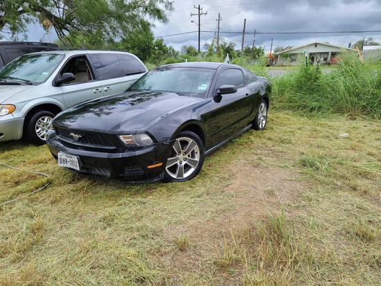 2010 Ford Mustang Passenger Car, VIN # 1ZVBP8AN6A5112011