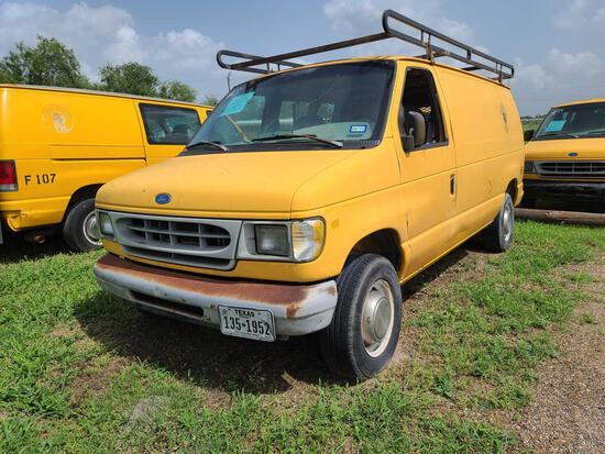 """""""F-8"""" 1997 Ford Econoline Van, VIN # 1FTFE24L8VHB63824"""