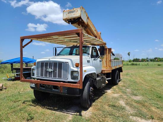 1999 Chevrolet C7500 Bucket Truck, VIN # 1GBP7H1C2XJ100904