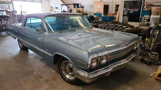 Matching Number 1963 Chevrolet Impala Sport w/2 Speed Powerglide, all original , VIN 31847A224955