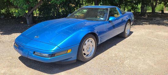 Matching Number 1991 Chevrolet Corvette Passenger Car, VIN # 1G1YY2383M5114486