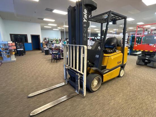 Yale Forklift, Hours: 4673.8, Srl# E187V22651B, Cap: 5,000 lb