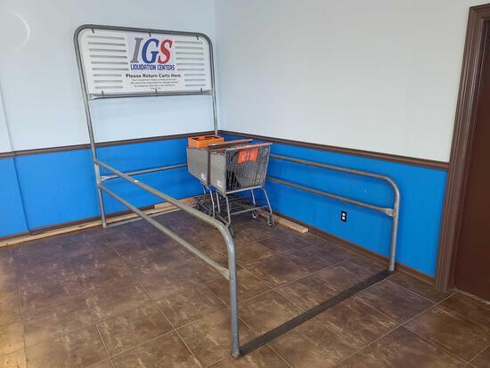 (2) Shopping Carts & Rack