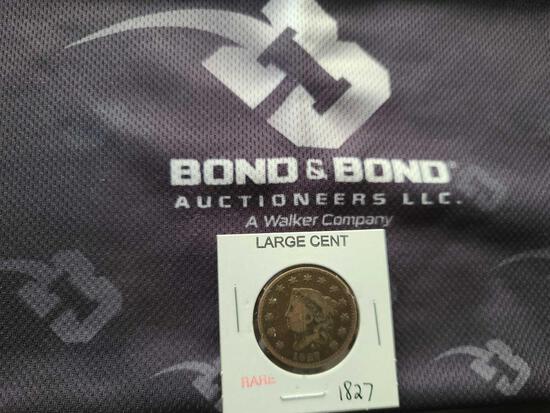 (1) Rare Large Cent ''1827''