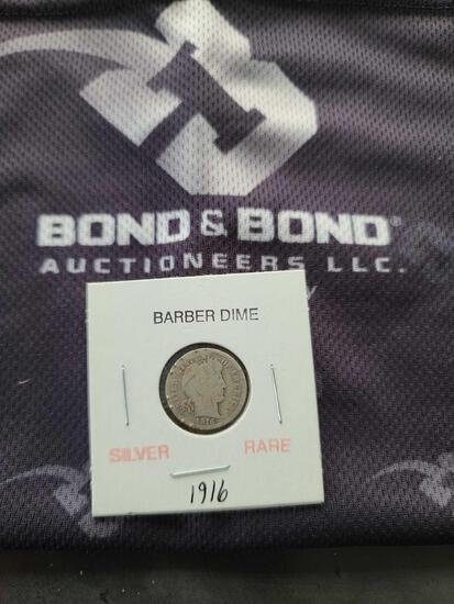(1) Silver Rare Barber Dime ''1916''