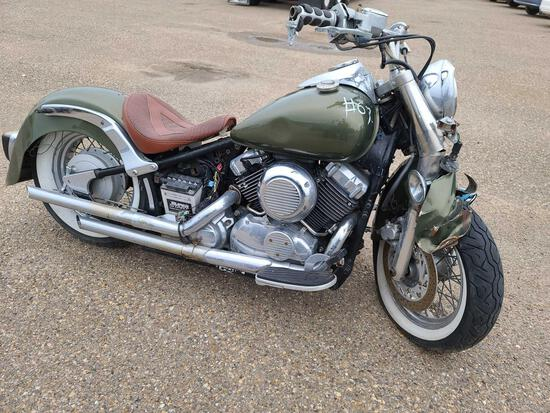 2004 Yamaha XVS650 Motorcycle, VIN # JYAVM01E84A069521