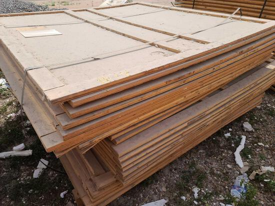 Lot w/Disassembled Shipping Plywood Crates apprx. 7ft. x 5ft.