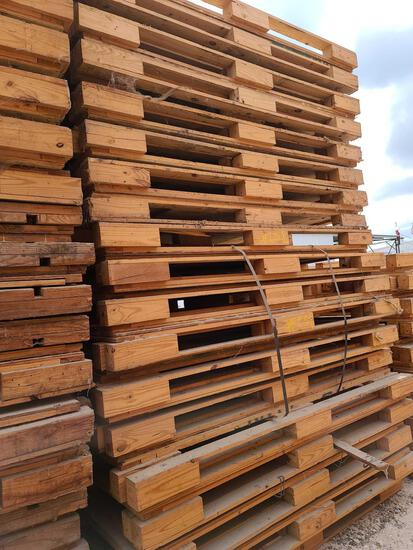 Lot w/Disassembled Shipping Plywood Bottom Crates