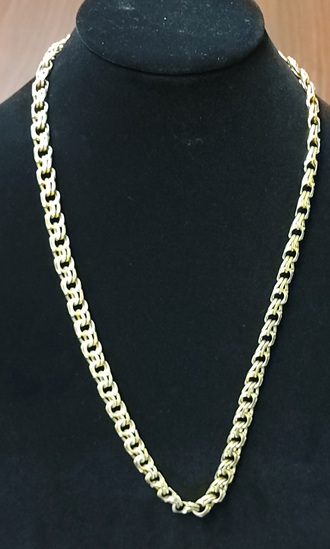 """26"""" Chino Link Chain Necklace 10k gold"""