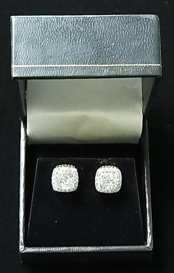 1.00CTW Diamond Cluster Earrings  14k