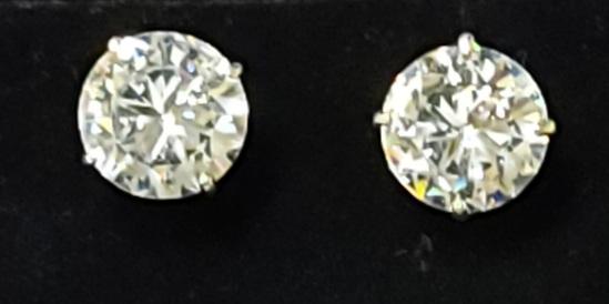 Cubic Zirconia Earrings mounted on 10k