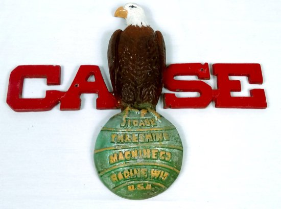 Wrought Iron Case Threshing Machine Co Sign