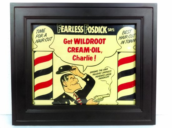 Framed Wildroot Cream-Oil Advertisement