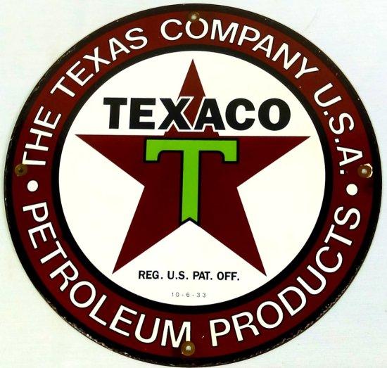 Texaco Tin Advertising Sign