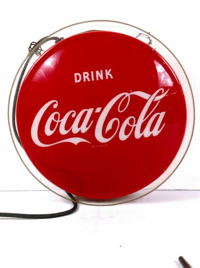 Double Sided Back Light Coca-Cola Button