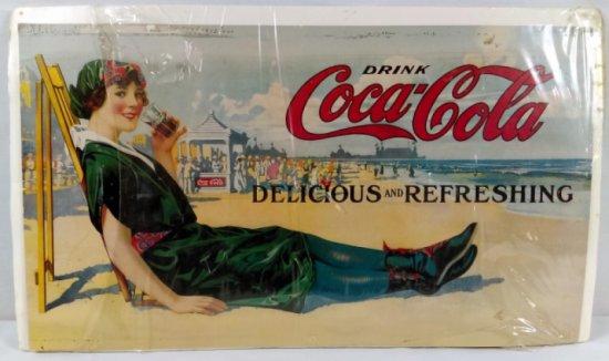 Cardboard Coca-Cola Advertisement