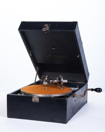 Victor Victrola Suitcase Disc Phonograph