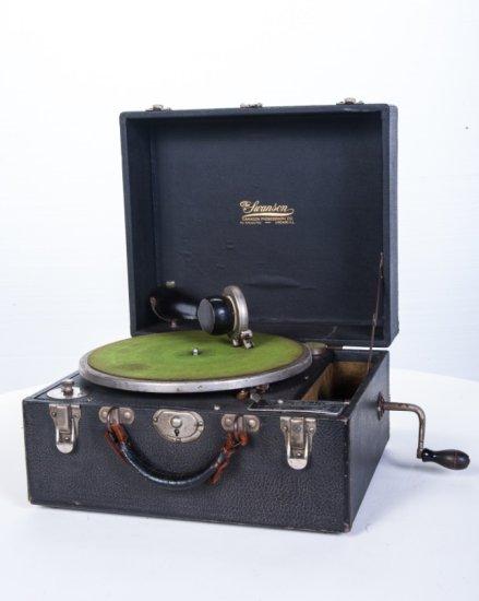 Swanson Model 2 Suitcase Disc Phonograph