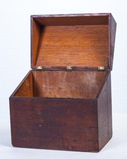 Oak Disc Record Storage Box