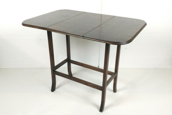 Collapsible 3 Section Oak Table