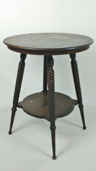 Circular Oak End Table