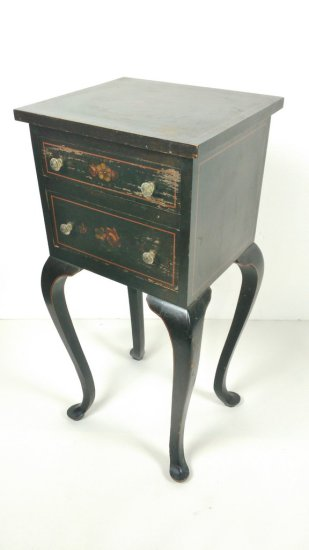 Small Wooden Hand Painted End Table