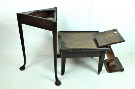 3 Wooden End Tables/Pedestals