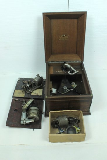 Group of Victor Phonograph Parts/Motors