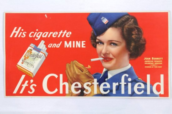 Chesterfield Advertising Card