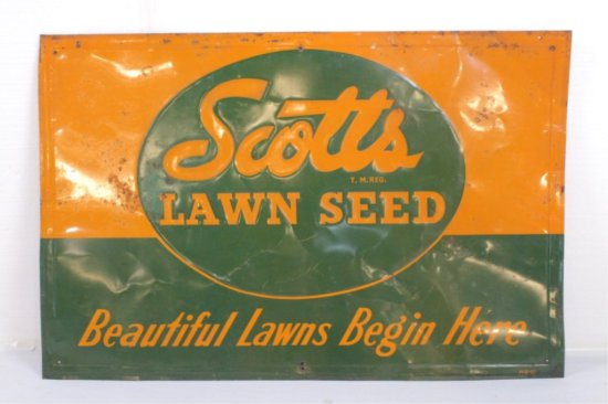 Scott's Lawn Seed Single Sided Tin Sign