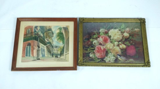 Lot of 2 Pieces of Framed Art-Donnel Watercolor +