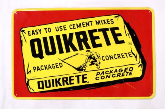 Quickrete Concrete Single Sided Tin Sign